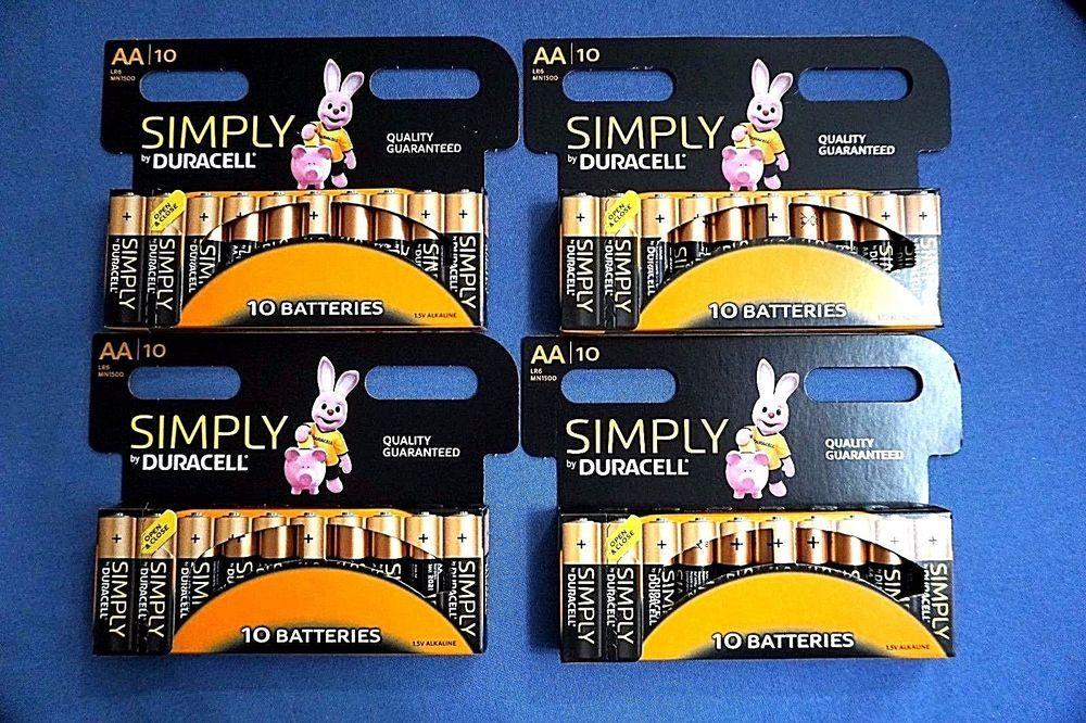 Best Aa Batteries 2021 40 Duracell AA Batteries. Alkaline Battery. Brand New Bateries