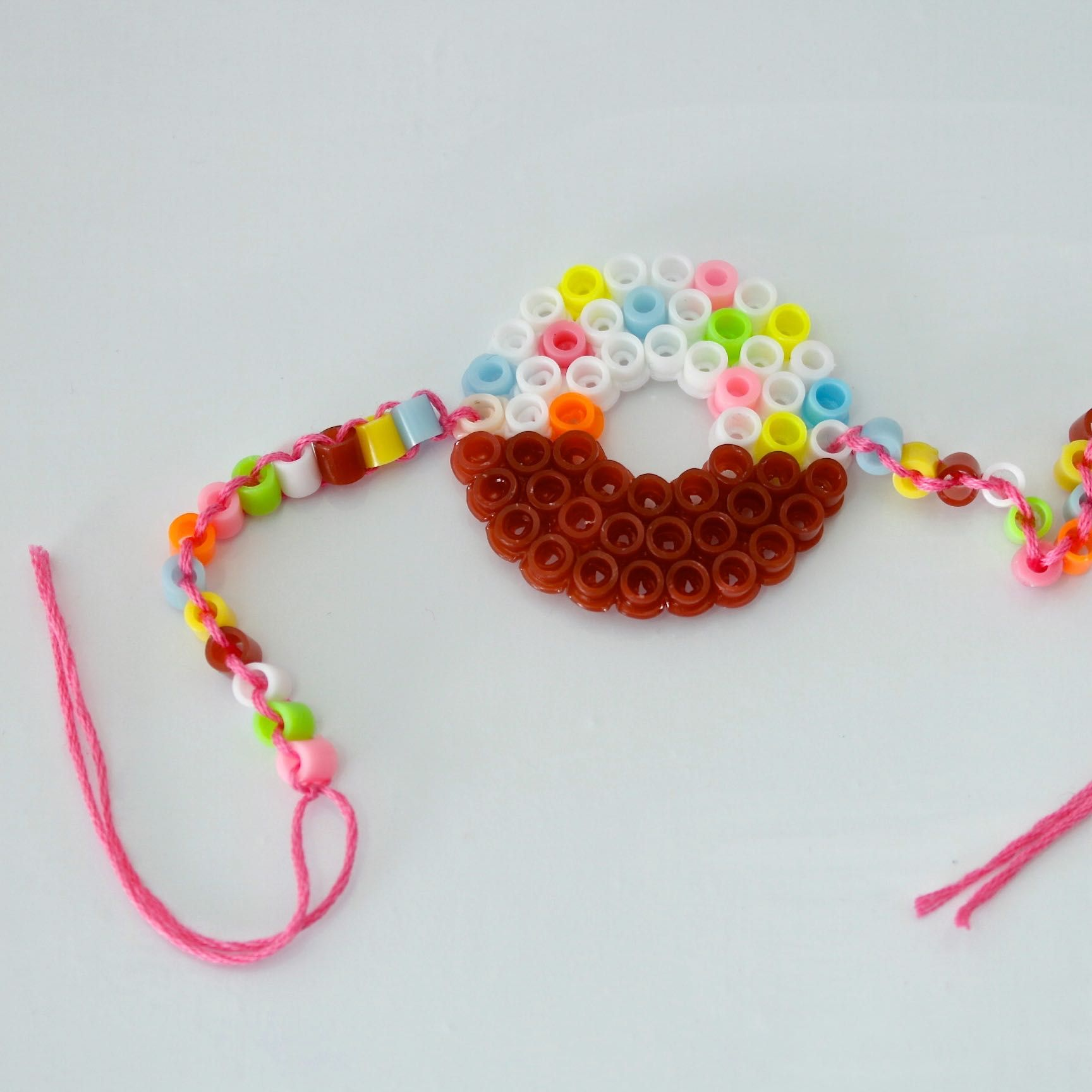 melting beads montage bracelet mini happy me hama bead perler craft