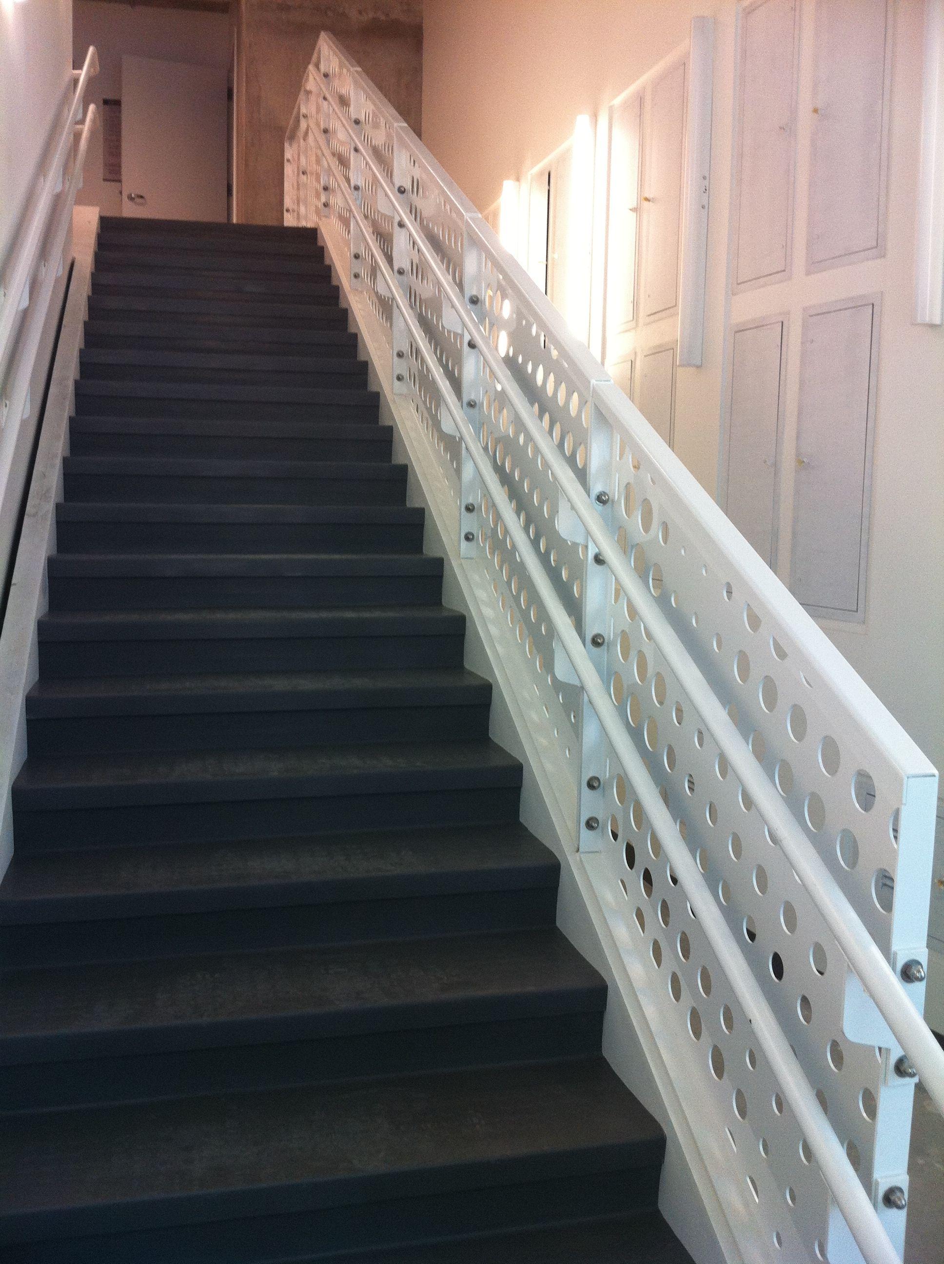 Bok Modern Public Utility Commission Building San Francisco Inside Stairs  Guard Rails Railing