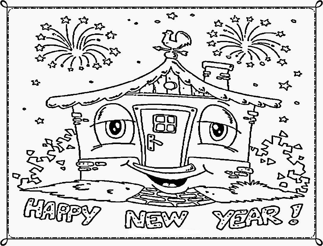 Happy New Year! | Colouring | Pinterest