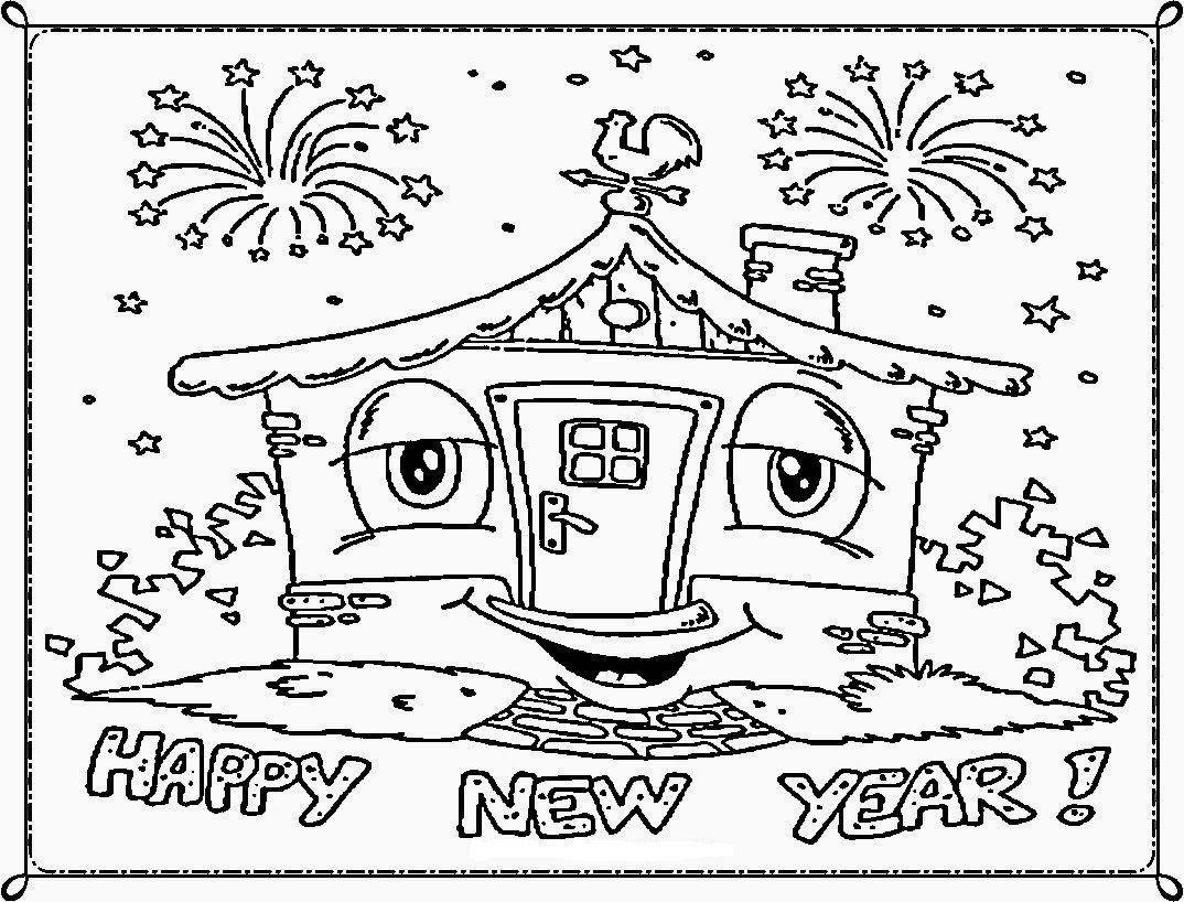 happy new year kleurplaten gelukkig nieuwjaar nieuwjaar