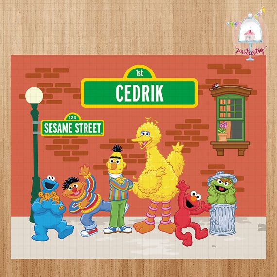 Sesame Street Backdrop Banner Printable By Parteestry