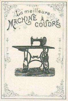 maquina coser frances Vintage sewing image.