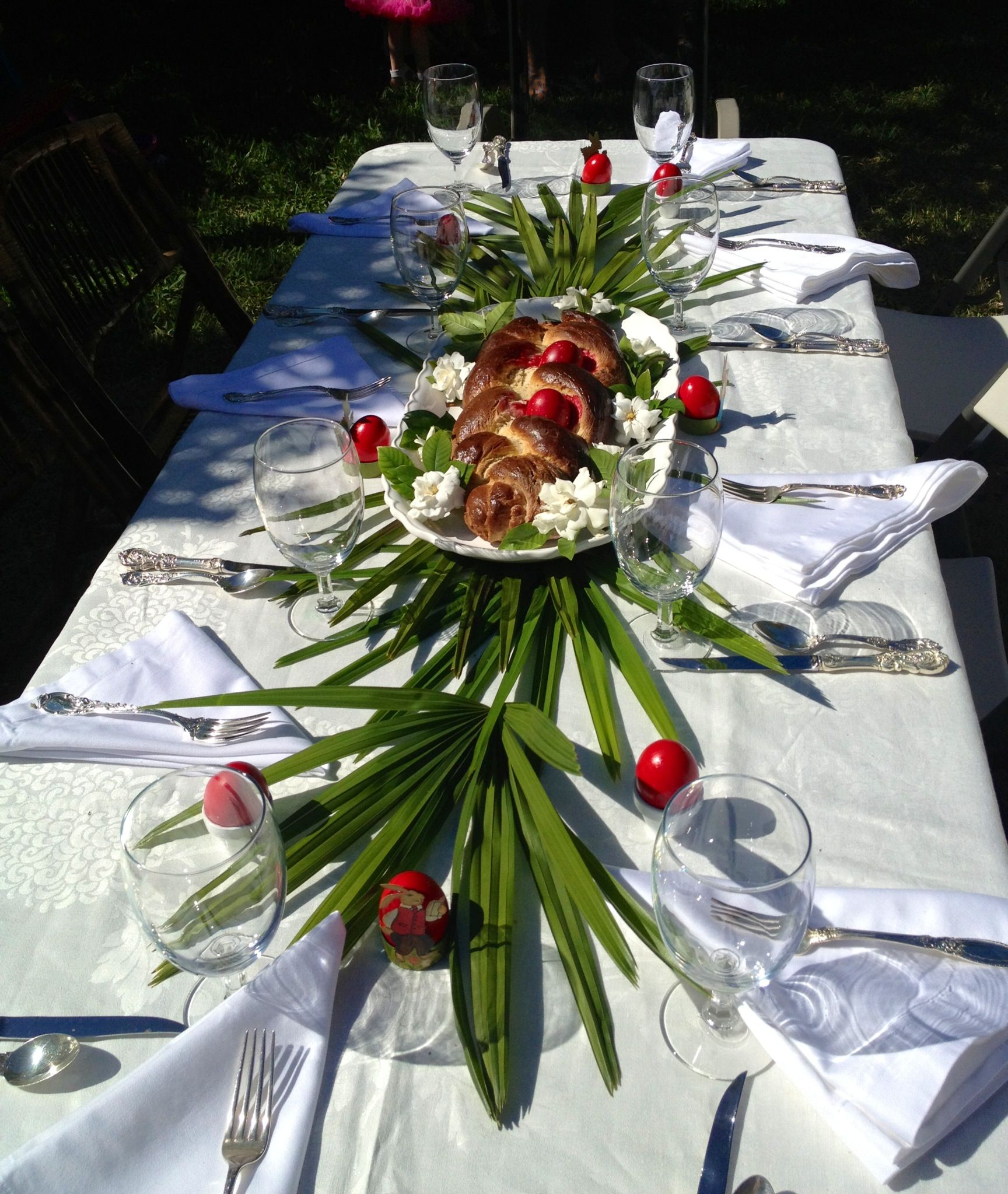 Greek Table Setting Decorations Our Table Setting For Greek Easter Pasxa Pinterest Beautiful