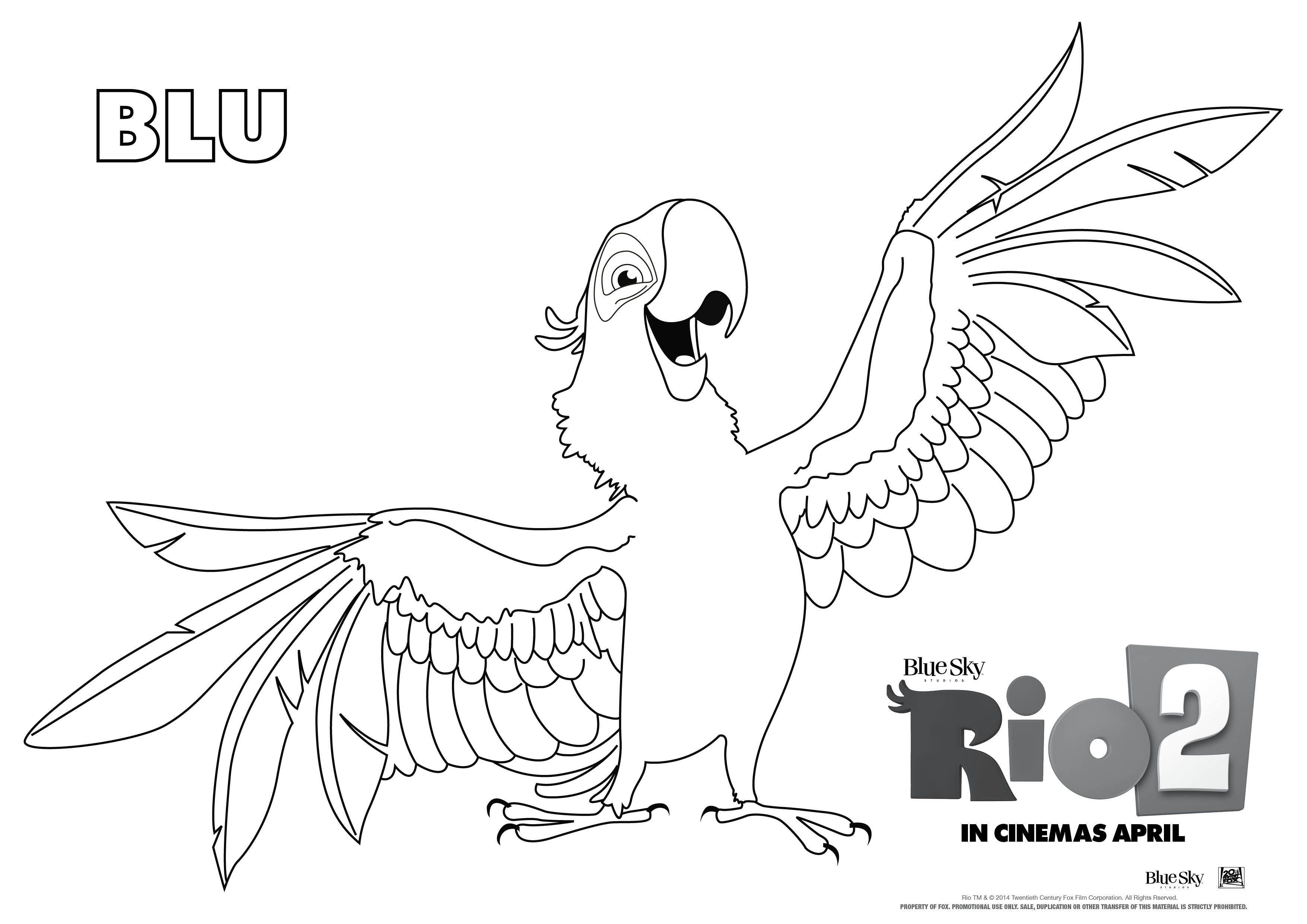 Rio 2 Coloring Pages Filme Rio Coisas Para Desenhar Atividades Para Colorir