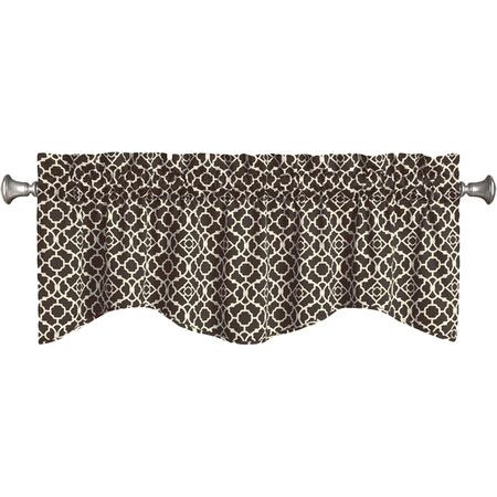 Showcasing a lattice motif and scalloped design, this eye-catching valance makes a bold addition to your living room or parlor. Produ...