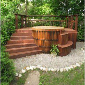 Ideas For Custom Cedar Traditional Hot Tub Designs For The Outdoor