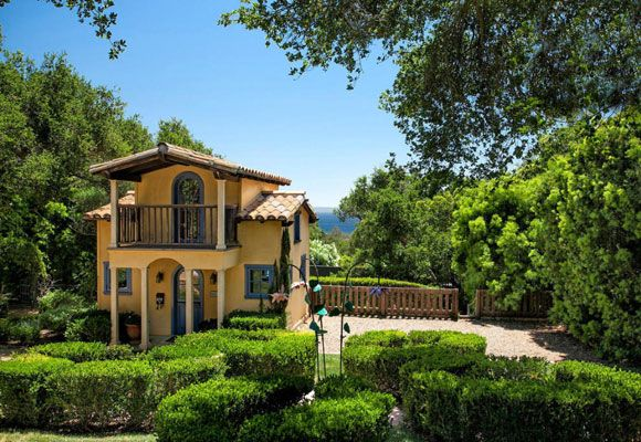 """$25.4m for majestic Montecito mansion The two-storey, life-sized playhouse is a """"miniature"""" version of the main family home."""
