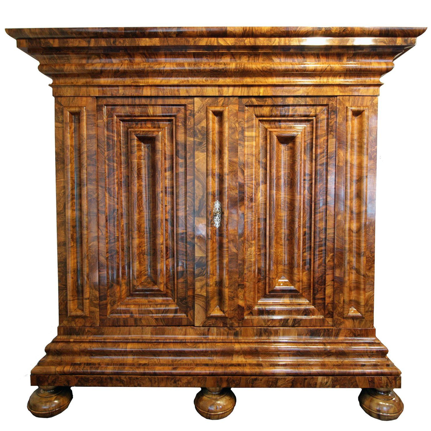 Early 18th Century Baroque Walnut Wardrobe Called Wellenschrank From Germany Cute Furniture Vintage Cabinets Baroque