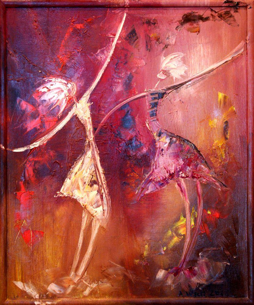 Obraz Olejny Na Plotnie Abstrakcja Tancerki 50x60 Cm Oil Painting On Canvas Abstraction Dancers 50x60 Cm Obrazy Painting Obraz Olejny