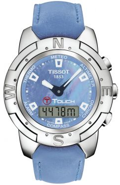 T33763881 Tissot T Touch Mens Multi Function Touch Screen Pearl Dial Watch Titanium Watches Tissot T Touch Tissot