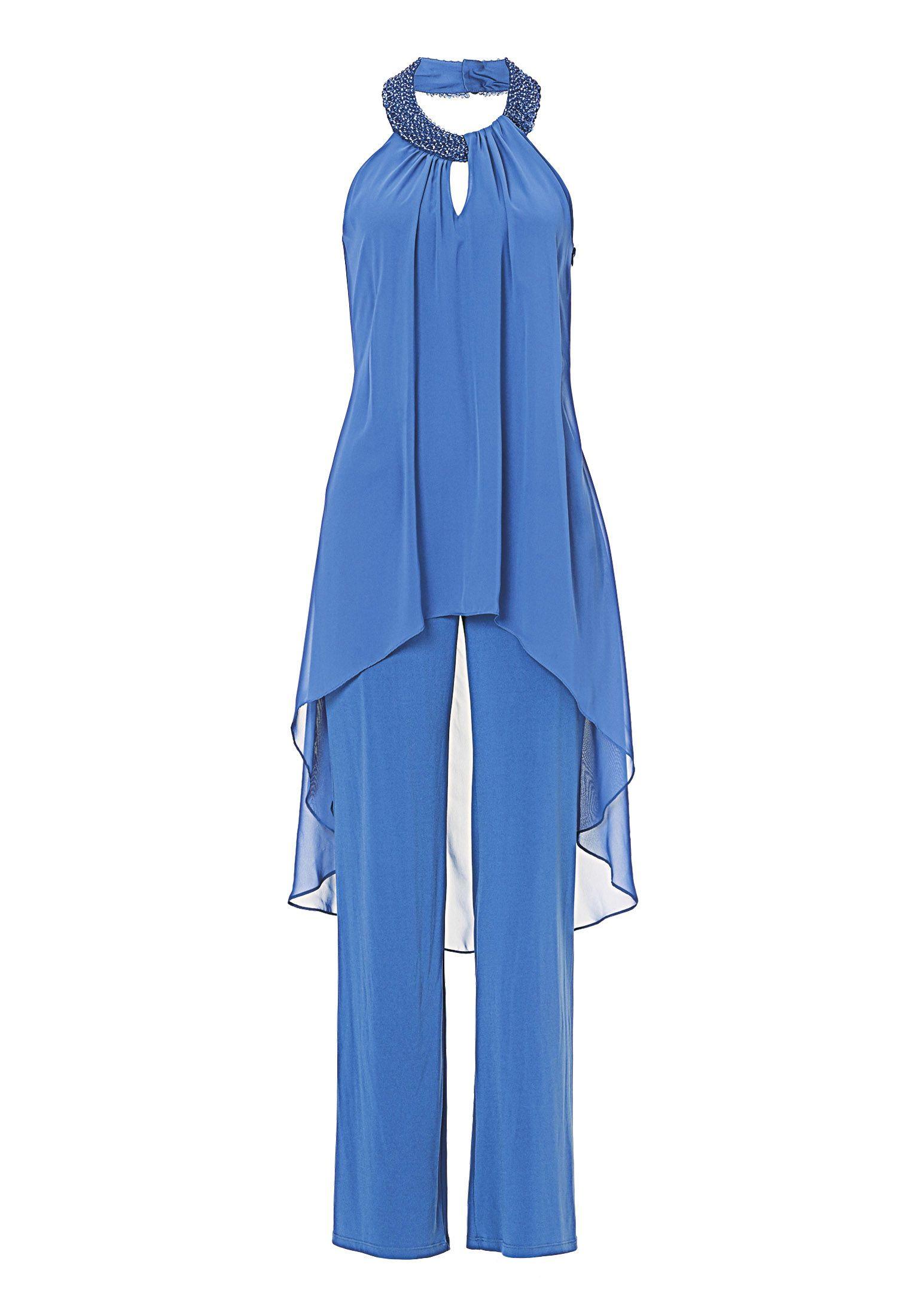 overall mediterranian blue   34   mode, kleidung, overall damen