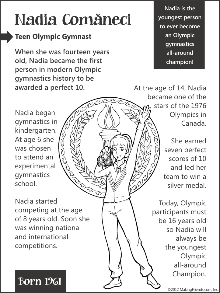 nadia comaneci teen olympic gymnast