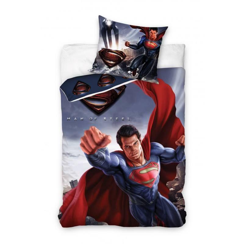 Copripiumino Superman.Superman 2 Reszes Agynemu Garnitura 160x200 70x80 Cm Diszparna