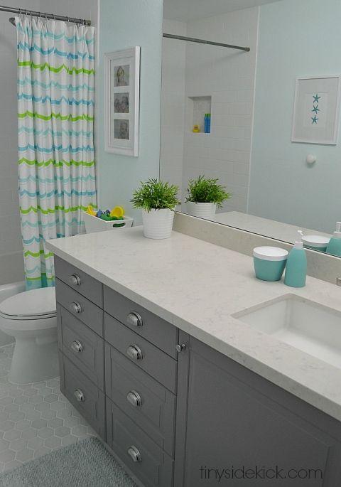 Elegant Kidu0027s Bathroom Remodel