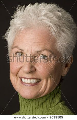 Astounding Stock Photo Head Shot Of A Beautiful 55 To 60 Year Old Woman Hairstyles For Women Draintrainus