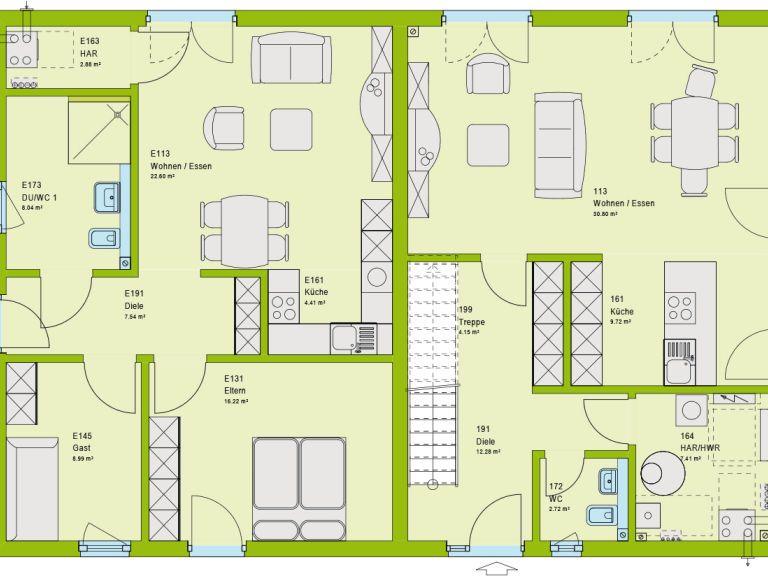 Bezahlbares Wohnen Mit Flair Als Kfw 55 Standard Haus Erdgeschoss Einliegerwohnung