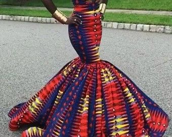 Embellished African print, African print fabric,African print prom dress,African print fashion,Ankara dresses for women,African dresses