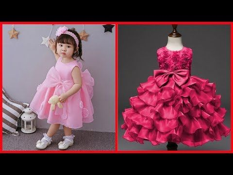 Latest party gown for little girls/Dresses designs for kids/Frill ...