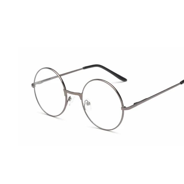 Lwc Round Glasses Retro Metal Frame Eyeglasses Korean Clear Lens Men Women Optical Round Sunglasses Women Clear Lens Sunglasses Round Sunglasses