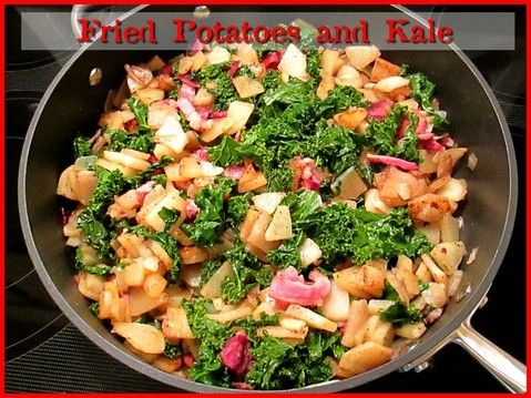 Fried Potatoes and Kale http://www.momspantrykitchen.com/fried-potatoes-and-kale.html