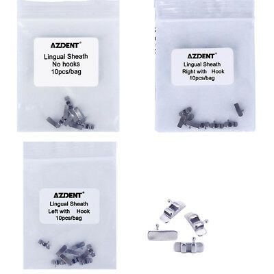 (Sponsored)(eBay) AZDENT Dental Orthodontic Accessory Lingual Sheath Left/Right/No Hooks 10pcs/bag
