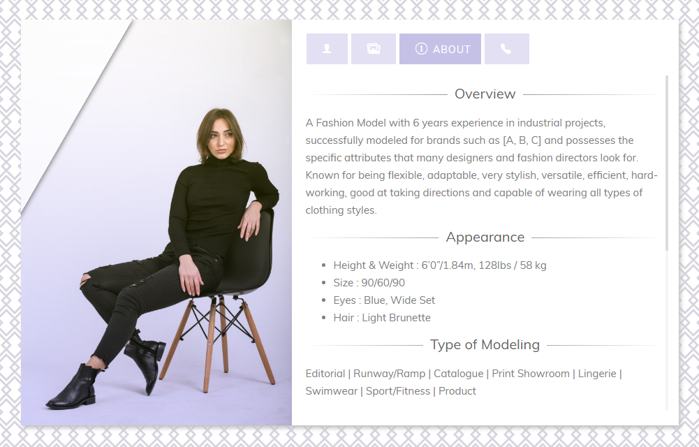Advanced Profile Card Bootstrap 4 Profile Wheel Of Fortune Cards