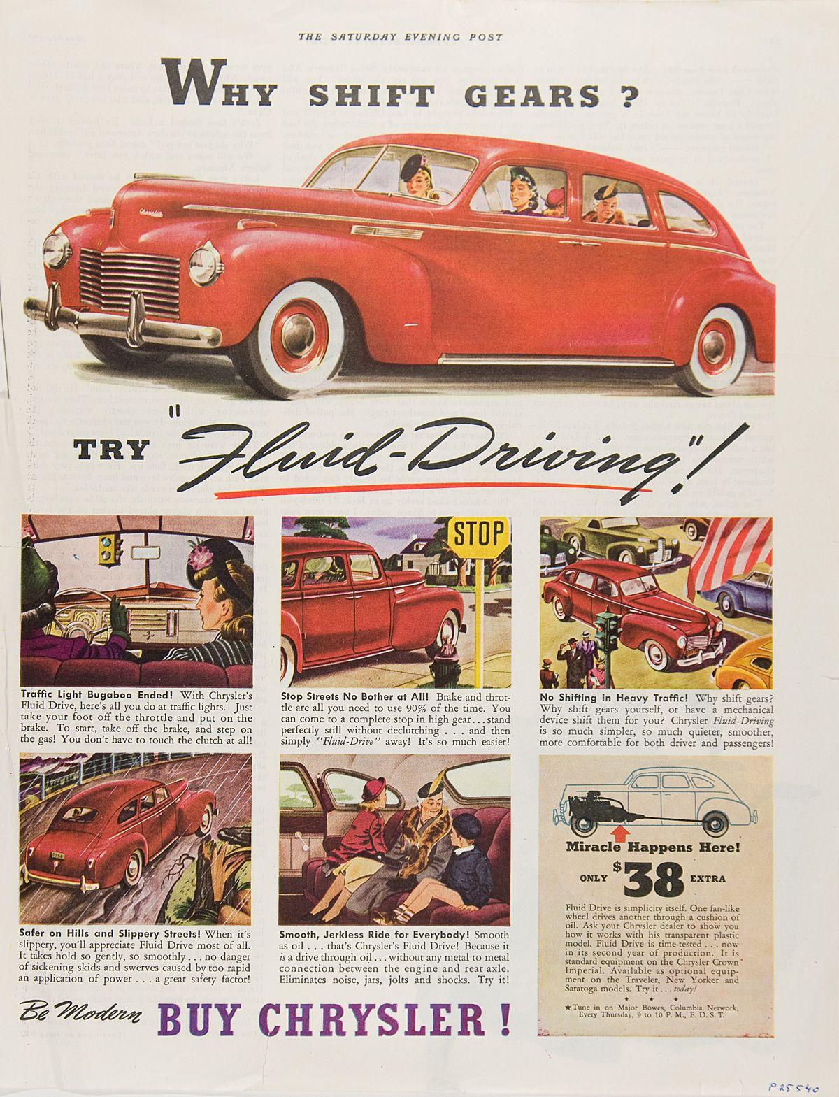 1940 Chrysler article; Vintage car ad. | Road Trip | Pinterest ...