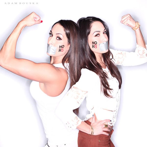 Diva Shot from WWE Total Divas Join the NOH8 Campaign