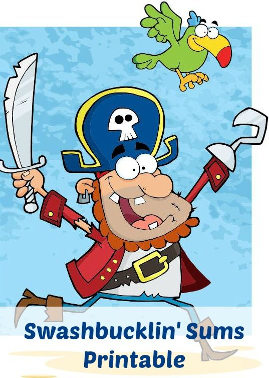 Ahoy, mateys! It\'s time for a swashbucklin\' sums #math #pirate ...