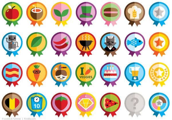 Icons & Badges for An online game and app for