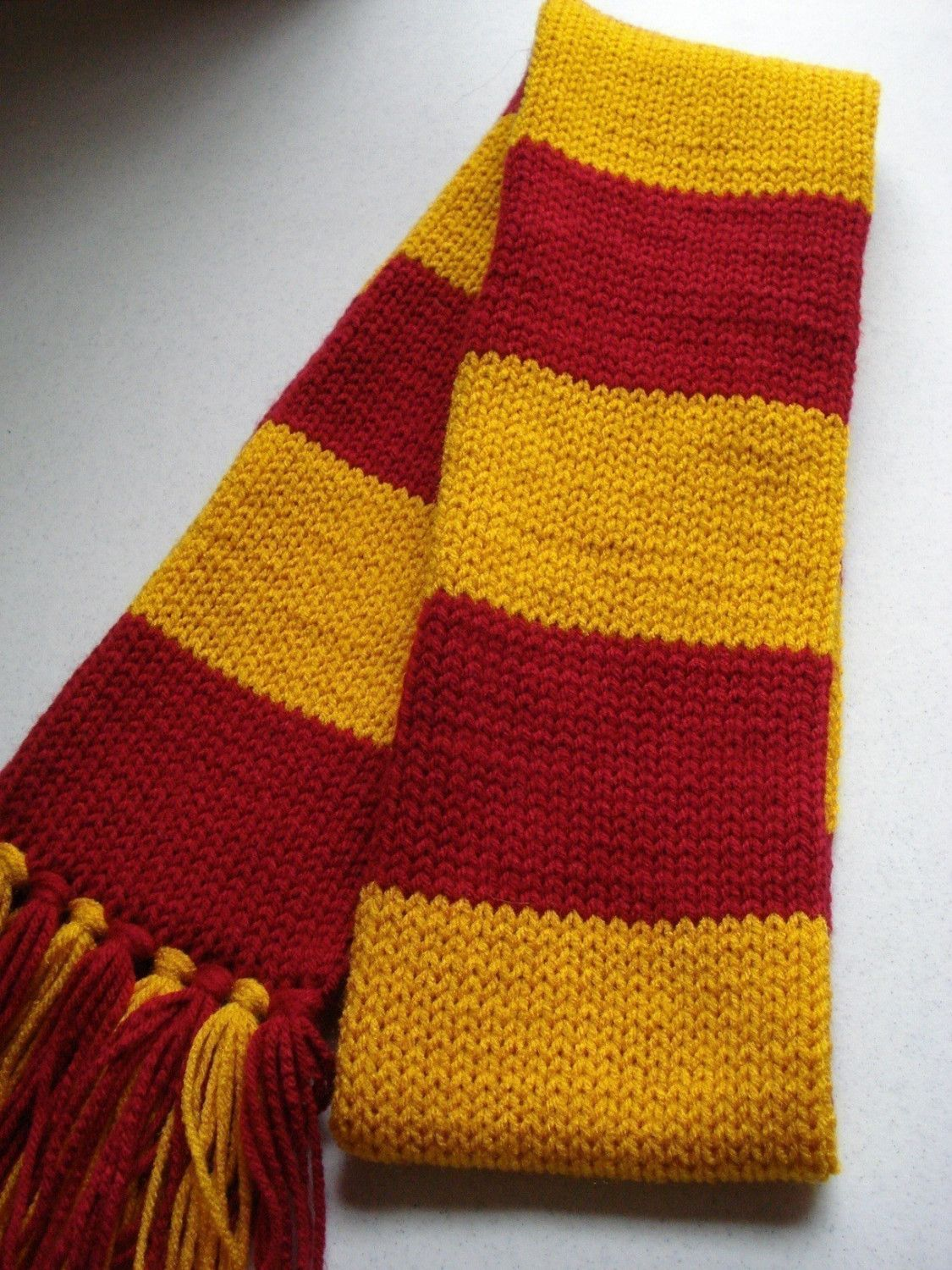 Harry Potter Scarf - Gryffindor Style inspired- Knitted Maroon and ...