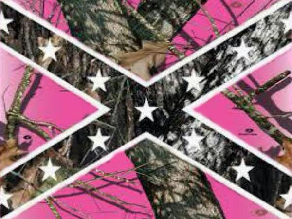 Pink Camo Confederate Flag Oh Yeah Thats How We Roll