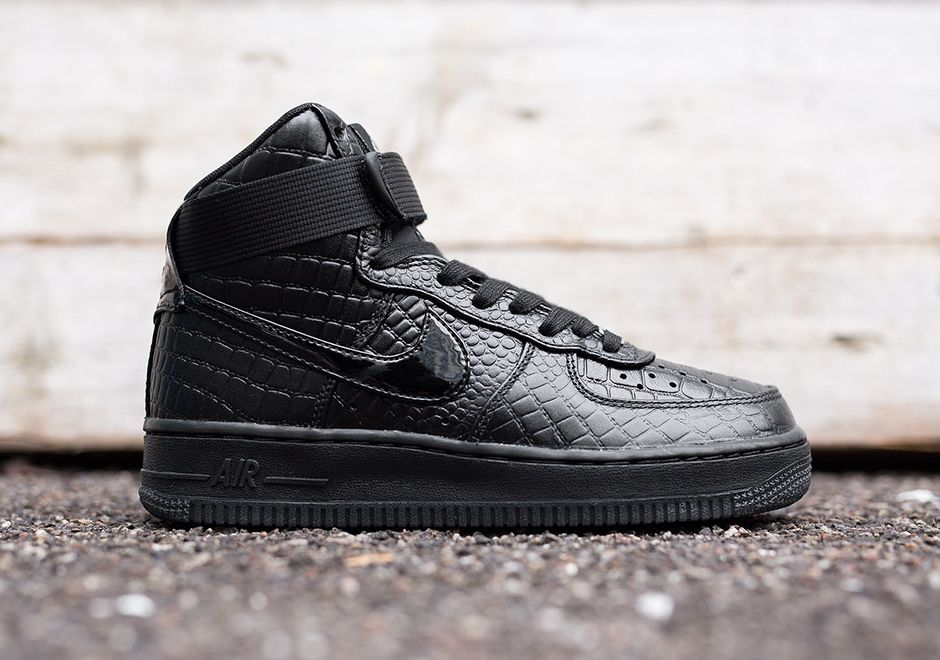 Nike Wmns Air Force 1 Salut Prm Premium Crochet Noir
