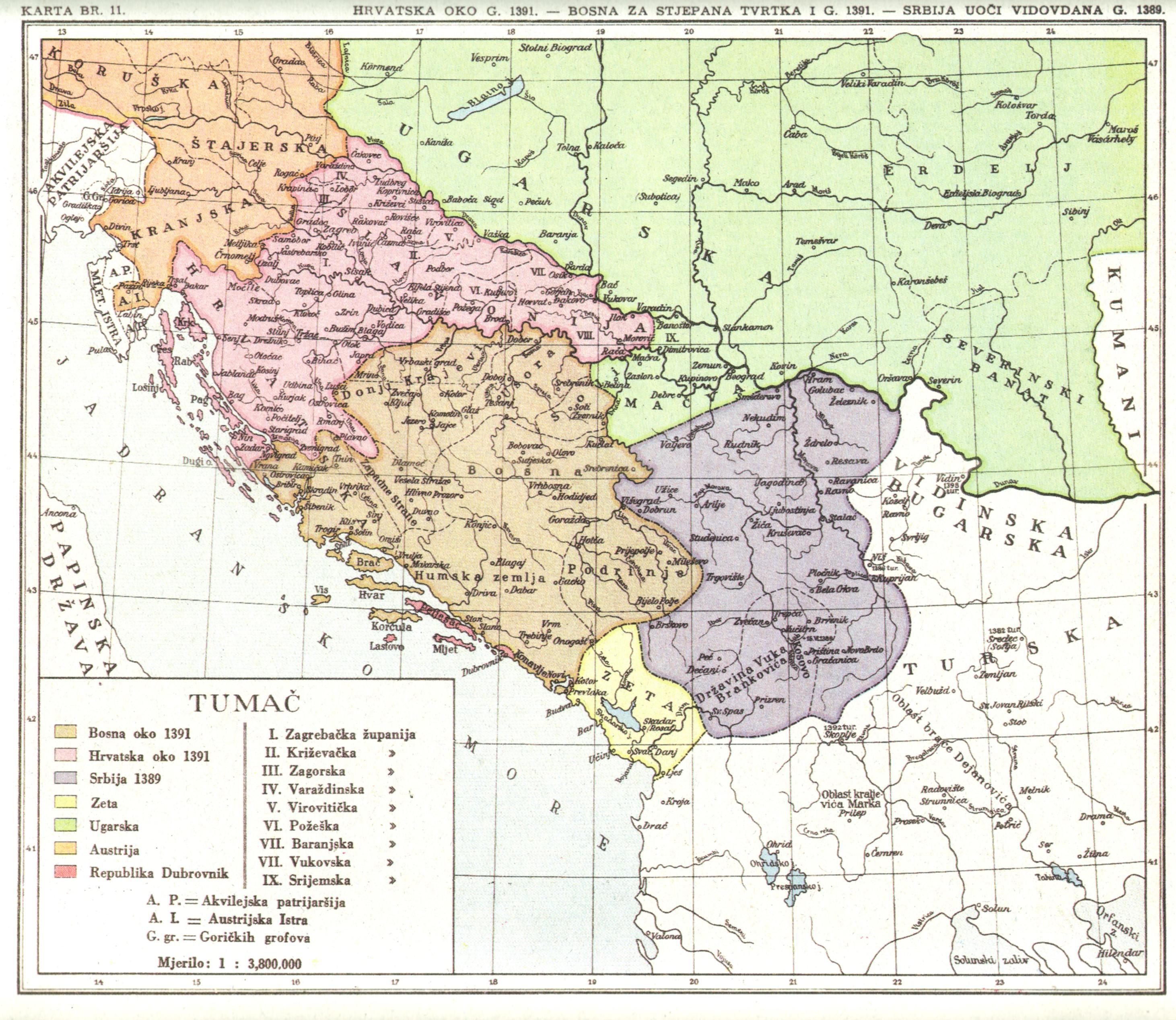 Hrvatska1391 Jpg 2923 2536 Vintage World Maps World History History