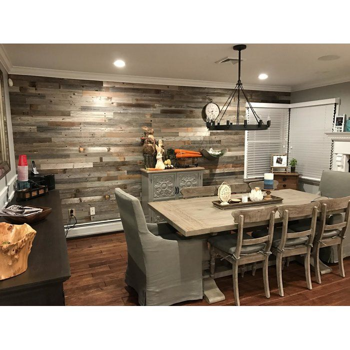 """Kitchens Wood Plank Wall: 3"""" Reclaimed Peel And Stick Solid Wood Wall Paneling"""