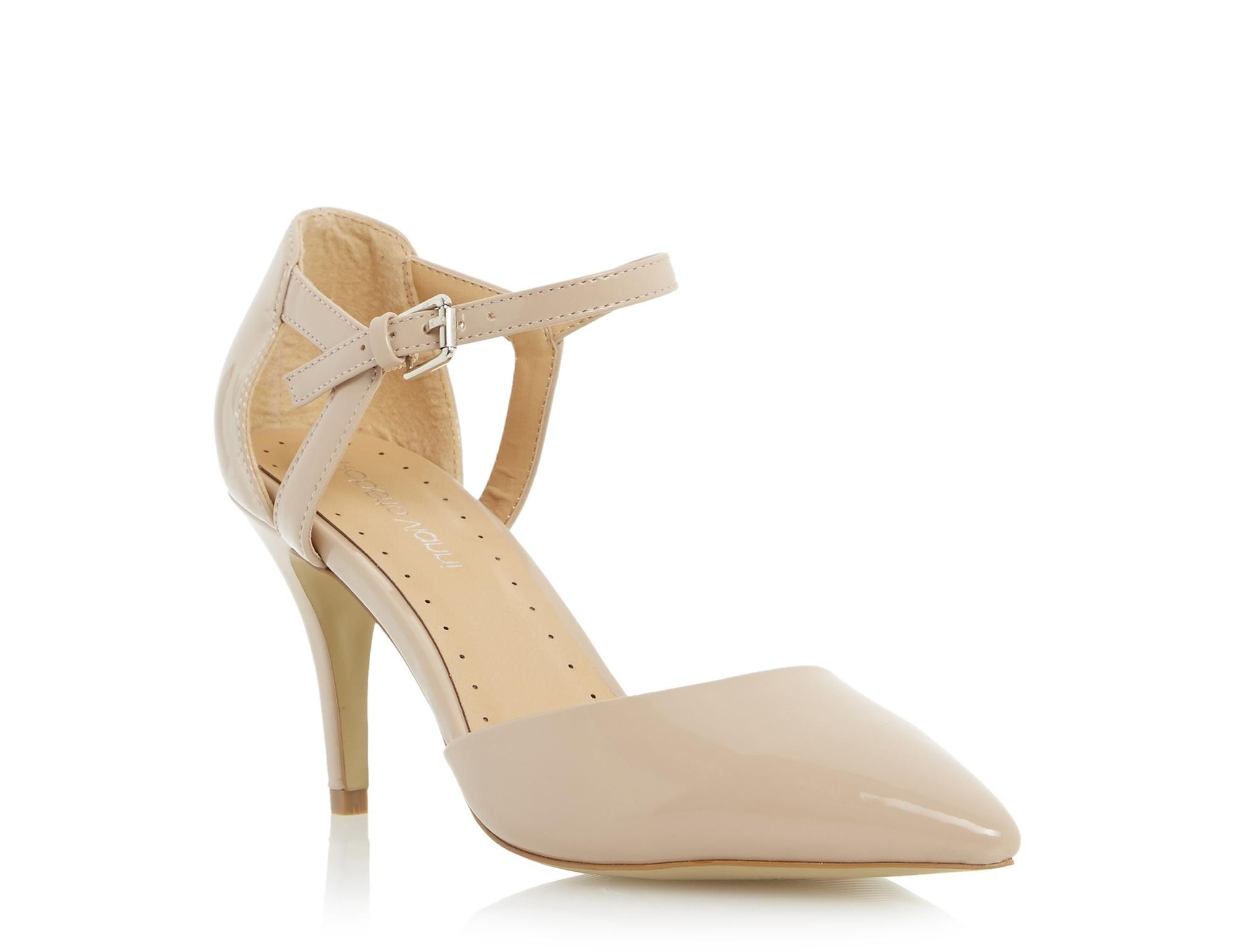Caprie Two Part Mid Heel Court Shoe