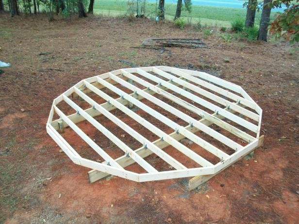 Most yurt companies do not provide the base platform you need to support your structure. As you can see in this photograph, the base needs to be built on a circular, raised platform that is the same diameter as your yurt and it should be constructed of wood or recycled composite decking material like Trex.