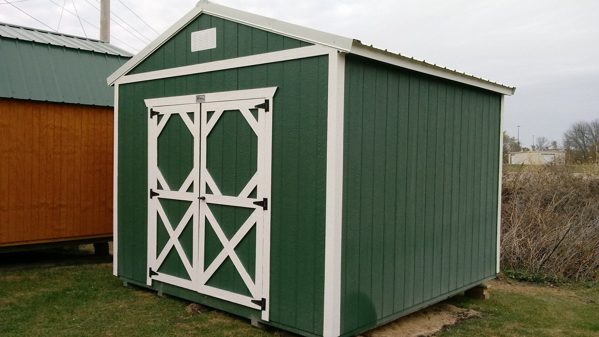 Utility Shed  Dealer James Beemer, Backyard Portable Bldgs
