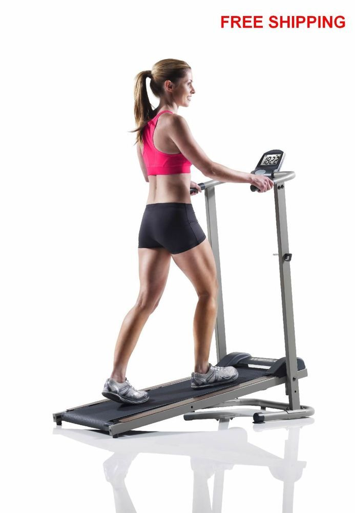 Treadmill Machine Folding Incline Cardio Fitness Exercise Portable Home Manual Workout Machines Cardio Workout Indoor Gym