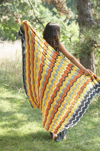 Download Free Pattern Canadiana Shaded Chevrons Blanket Knit