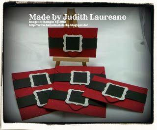 Bella´s Bastelecke: #stampinup....10. Dezember 2013...Santa Gift Card Holder...