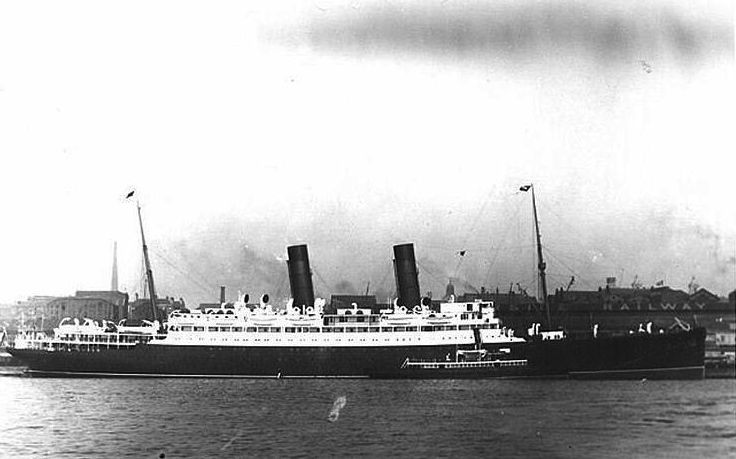 SS Laconia, an armed merchant cruiser (hired), 18,099 gross tons, 1912, 8-6inch guns, 16kts,  Sunk by U-50, 160 miles northwest of Fastnet on 25/2/17.  Service record Nov 1914-May 1915, Dec 1915-Jul 1916, Cape of Good Hope.
