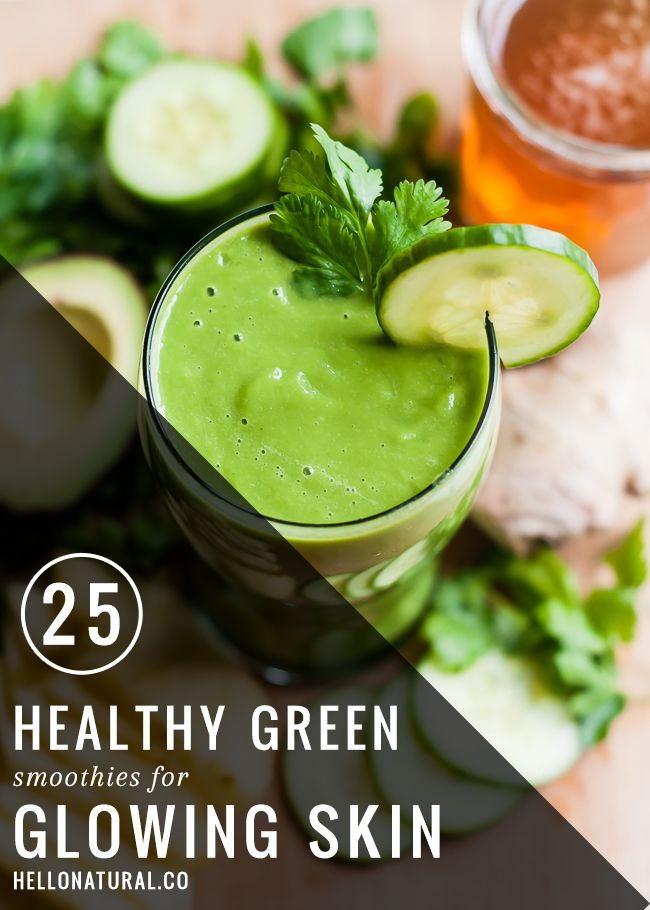 25 healthy green smoothies for glowing skin smoothies juice and food forumfinder Images