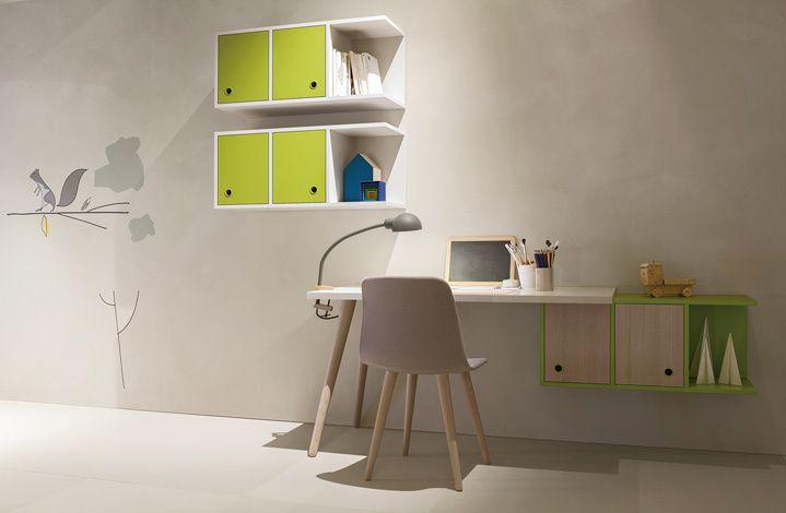 Scrittoio woody nidi by battistella legno kids for Design stanza ufficio