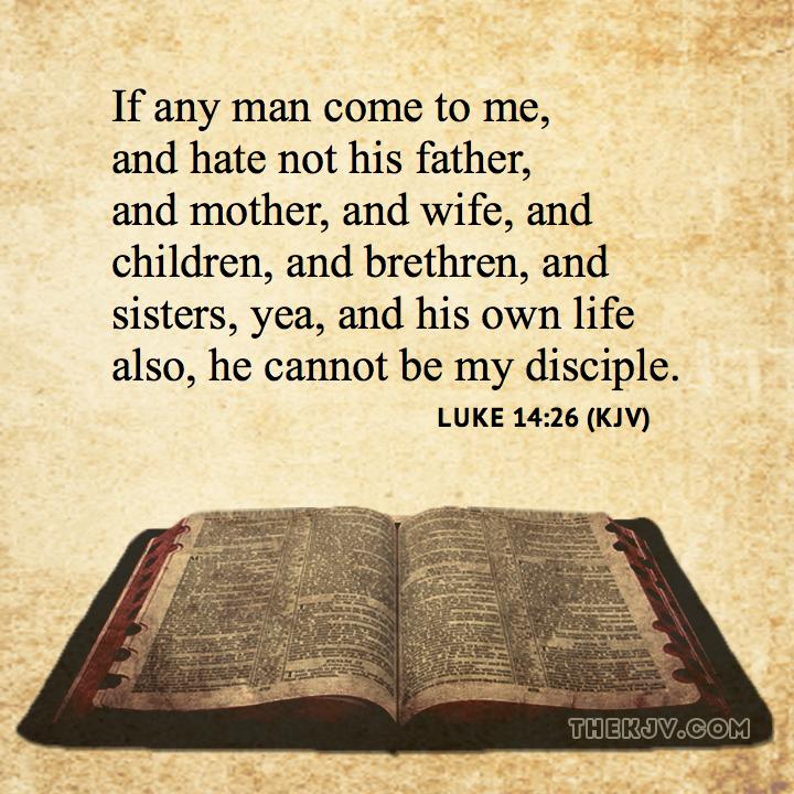 Kuvahaun tulos haulle luke 14:26