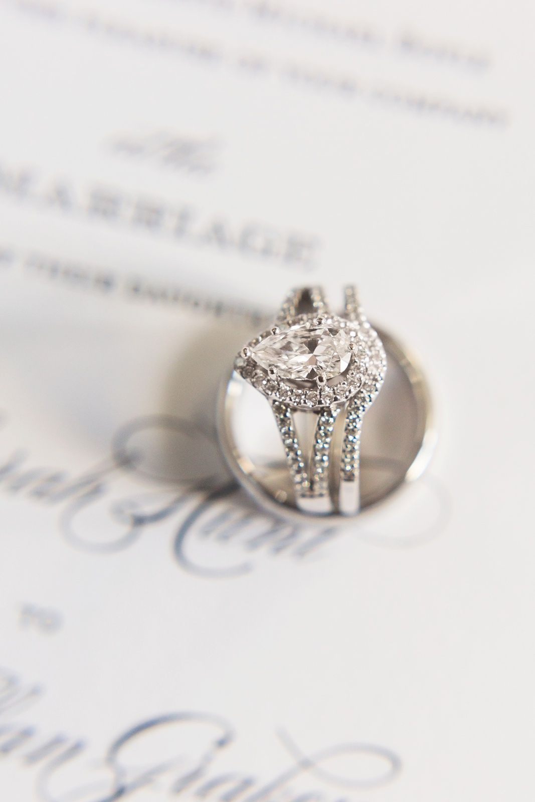 We Love This Beautiful Engagement Ring With A Matching Wedding Band Charlotte Vendors Gold Nc