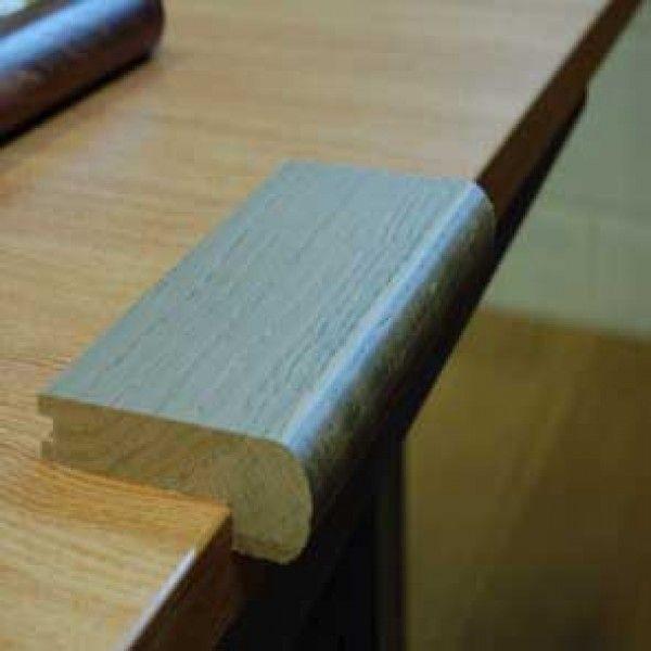Bull Nosed Graphite Coloured Oak Stair Nosing SN107