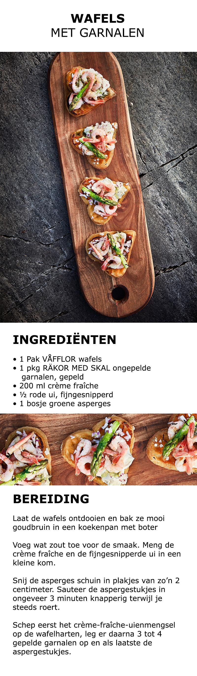 Inspiratie voor in de keuken - Wafels met garnalen | #IKEA #IKEAnl #koken…
