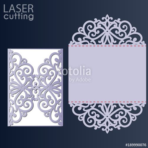 Download The Royalty Free Vector Laser Cut Wedding Invitation Card